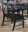 Bench with Two Arms in Black Rub-Through Finish - 715-13