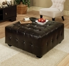 Bentley Leather Square Cocktail Ottoman - Abbyson Living - LI-HT001-OT