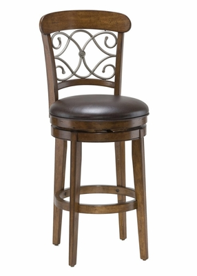 Bergamo Swivel Bar Stool - Hillsdale Furniture - 4299-830