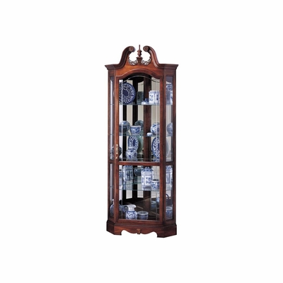 Berkshire Corner Curio Cabinet with Glass Shelves - Howard Miller