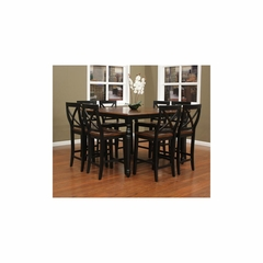 Berkshire Counter Height Table Set with 8 Camden Stools - American Hertiage - AH-713670