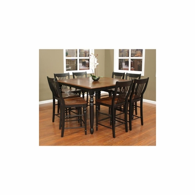 Berkshire Counter Height Table Set with 8 Homestead Stools - American Hertiage - AH-713626