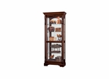 Bernadette Display Cabinet in Hampton Cherry - Howard Miller