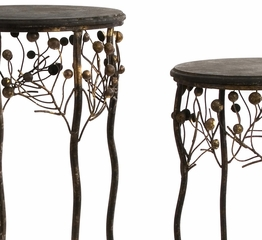 Berry Tables (Set of 3) - IMAX - 1319-3