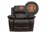 Bethune-Cookman University Wildcats Brown Leather Rocker Recliner - MEN-DA3439-91-BRN-41005-EMB-GG