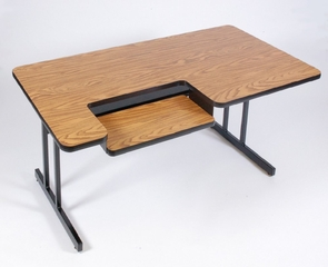 "Bi-Level Computer Table 30"" x 48"" - Correll Office Furniture - BL3048"