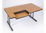 "Bi-Level Computer Table 30"" x 72"" - Correll Office Furniture - BL3072"