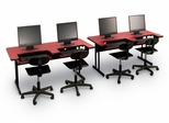 "Bi-Level Computer Table Set 30"" x 60"" - Correll Office Furniture"