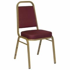 Big and Tall Banquet Stack Chair with Burgundy Patterned Fabric Seat and Back - FD-BHF-1-ALLGOLD-0847-BY-GG