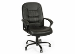 Big and Tall Black Leather Office Chair - OFM - 800-L