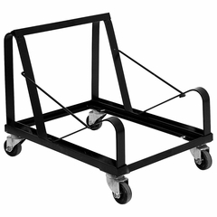 Big and Tall Black Steel Stack Chair Dolly - XU-MC168-DOLLY-GG