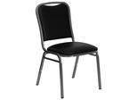 Big and Tall Black Vinyl Banquet Chair - Silver Vein Frame - NG-108-SV-BK-VYL-GG