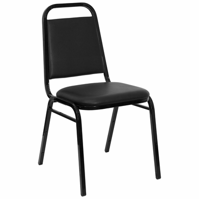 Big and Tall Black Vinyl Banquet Stack Chair - FD-BHF-2-GG