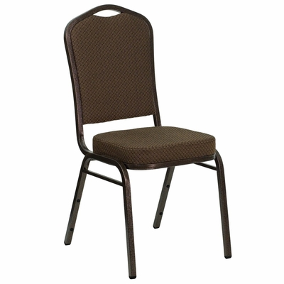 Big and Tall Crown Back Banquet Chair with Copper Vein Frame - FD-C01-COPPER-008-T-02-GG