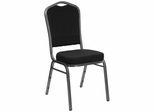 Big and Tall Crown Back Banquet Chair with Silver Vein Frame - FD-C01-SILVERVEIN-S076-GG