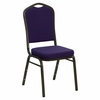 Big and Tall Crown Back Stacking Banquet Chair with Purple Fabric and Gold Vein Frame - NG-C01-PUR-GV-GG