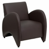 Big and Tall Patrician Brown Leather Reception Chair - ZB-PATRICIAN-BROWN-GG