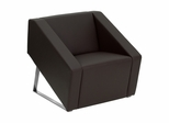 Big and Tall Smart Brown Leather Reception Chair - ZB-SMART-BROWN-GG
