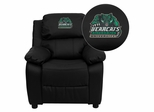 Binghamton University Bearcats Black Leather Kids Recliner - BT-7985-KID-BK-LEA-41006-EMB-GG