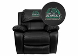 Binghamton University Bearcats Black Leather Rocker Recliner - MEN-DA3439-91-BK-41006-EMB-GG