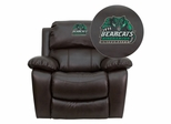 Binghamton University Bearcats Brown Leather Rocker Recliner - MEN-DA3439-91-BRN-41006-EMB-GG