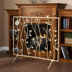 SEI Bird and Branch French Vanilla Fireplace Screen