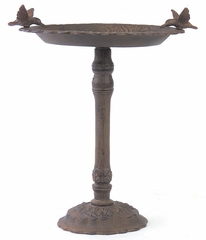 Birdbath with Rose Base - IMAX - 7321