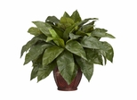 Birdsnest Fern with Decorative Vase Silk Plant - Nearly Natural - 6659