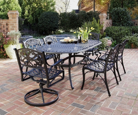 Biscayne 7-Piece Outdoor Dining Set in Black - Home Styles - 5554-3358