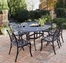 Biscayne 7-Piece Outdoor Dining Set in Black - Home Styles - 5554-338