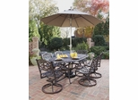 Biscayne 7-Piece Outdoor Dining Set in Rust Brown - Home Styles - 5555-335
