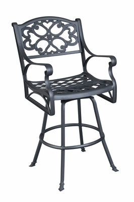 Biscayne Swivel Stool in Black - Home Styles - 5554-89