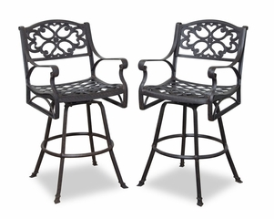 Biscayne Swivel Stool in Rust Brown - Home Styles - 5555-89