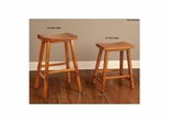 Biscayne Tobacco Backless Saddle Stool - Set of 4 - Largo - LARGO-ST-D1173-2X