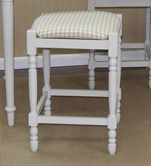 "Biscuit and White 24"" Upholstered Counter Stool - Carolina Chair - 2662-MW-TC"