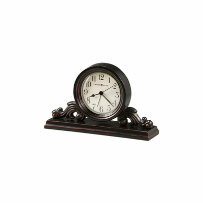 Bishop Worn Black Decorative Alarm Clock - Howard Miller