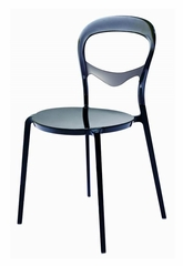 Bistro Chair in Glossy Black - PC-603-BLACK