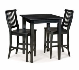 Bistro Set in Ebony - Arts and Crafts - 5181-DSET-4