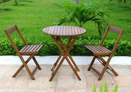 Bistro Set in Natural - Merry Products - MPG-TL37-SET