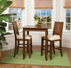 Bistro Set in Soft Mahogany - Jamaican Bay - 5535-DSET-1