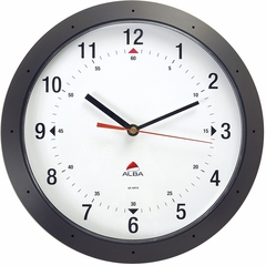 "Black 11.8"" Diameter ALBA Wall Clock"