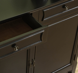 Black 2-Door Console - Powell Furniture - 246-333