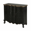 Black 2 Door Scalloped Chest - Powell Furniture - POWELL-502-697
