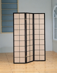 Black 3 Panel Folding Screen - 900046
