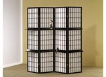 Black 4 Panel Folding Screen - 900100