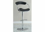 Black Adjustable Bar Stool - Set of 2 - 120386