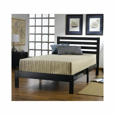 Black Aiden Twin Platform Bed - Hillsdale