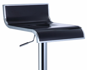 Black and Chrome Thin Seat Adjustable Height Bar Stool (Set of 2) - Powell Furniture - 212-890-SET