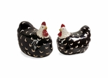 Black and White Chickens (Set of 2) - IMAX - 48025-2