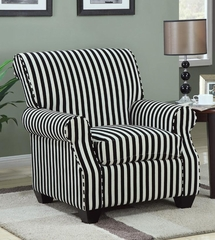 Black and White Stripes Accent Chair - 902085